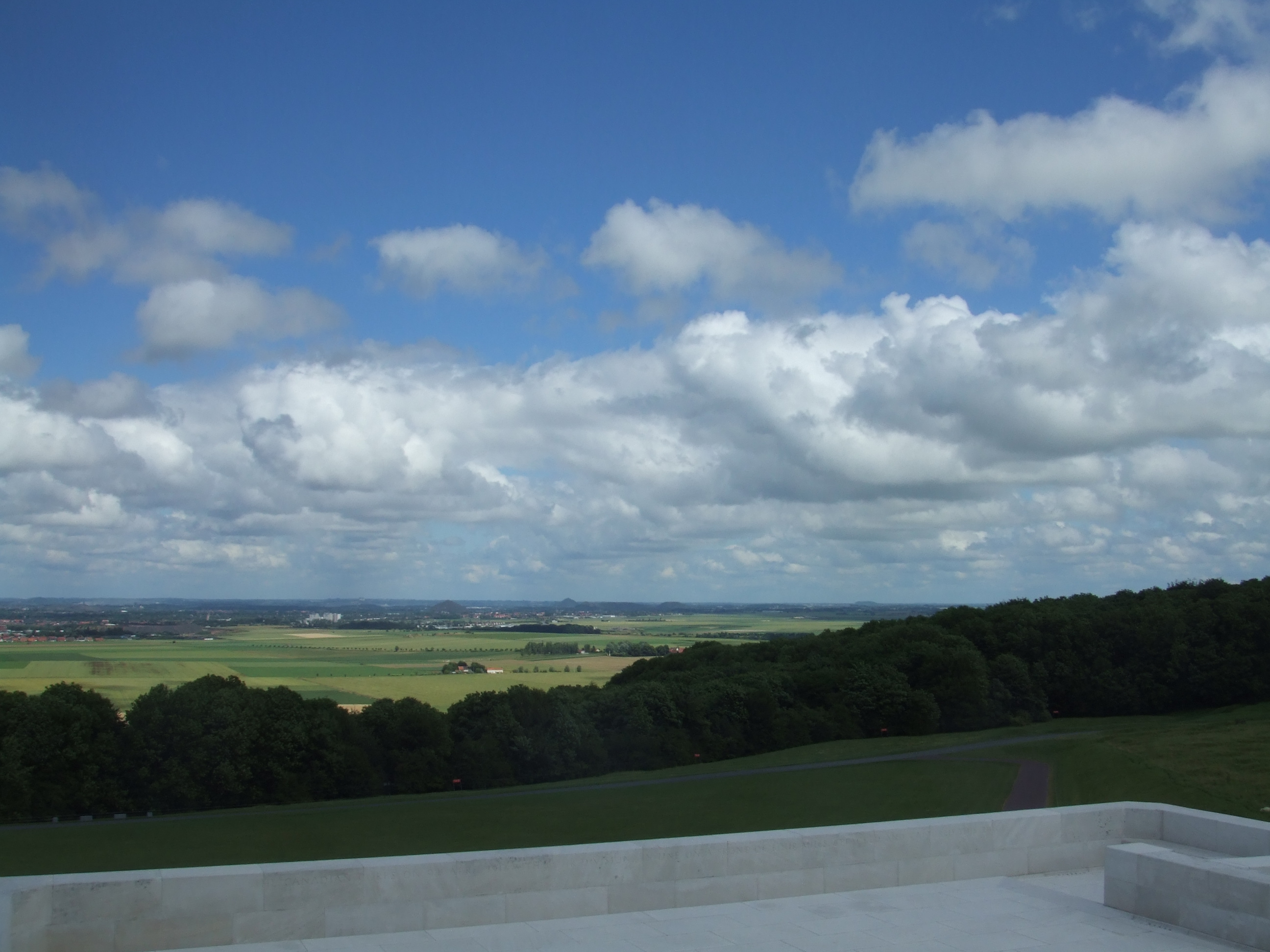 View from the top of Vimy Ridge